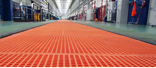 FRP gratings and fiberglass products for industrial and construction use