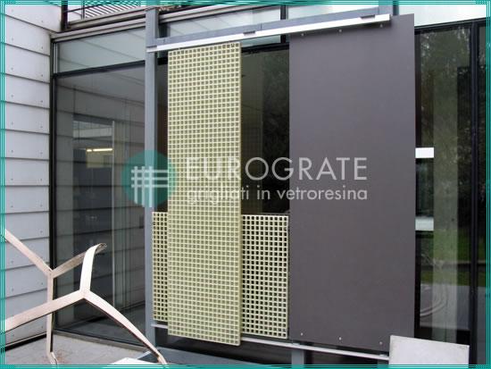 parete di grigliati per la protezione ai raggi UV