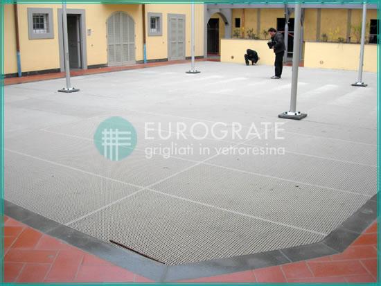 pavimenti grigliati in PRFV