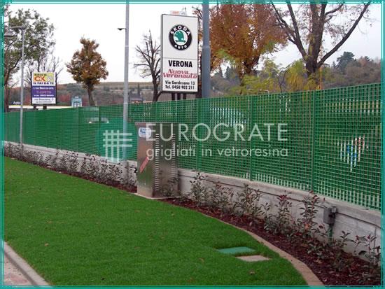 recinzioni industriali per la protezione di una concessionaria d'auto