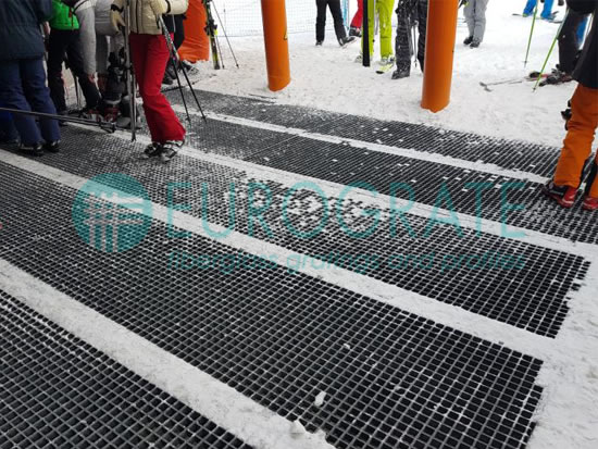 pavimenti in grigliato per la sicurezza dei sciatori