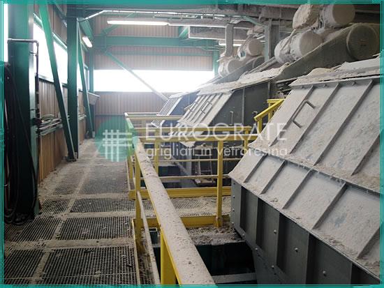 grigliati in vetroresina per la protezione dei lavoratori nell'industria mineraria