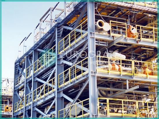 strutture autoportanti e parapetti di sicurezza applicati nell'industria oil e gas