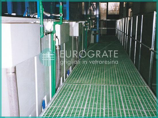grigliati recinzioni per il settore del trattamento delle superfici nell'industria galvanica