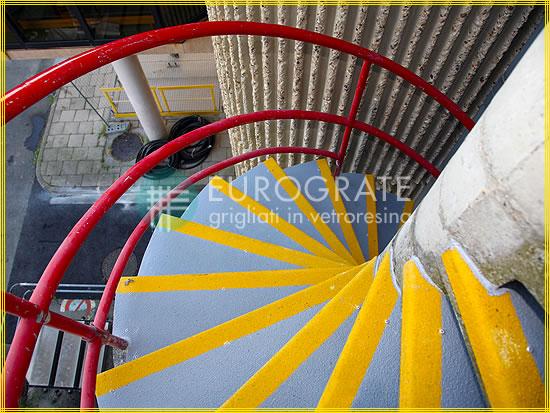 Coprigradini adibiti alle scale a chiocciola in cemento