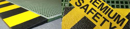 Prodotti per la sicurezza: angolari di sicurezza, copri gradini, copri pioli, laminati, grigliati atex antistatici, grigliati antisdrucciolo