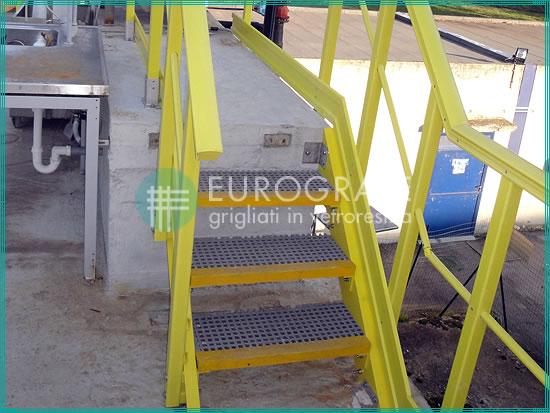 Gradini grigliati per l'accesso ad impianti di energia elettrica