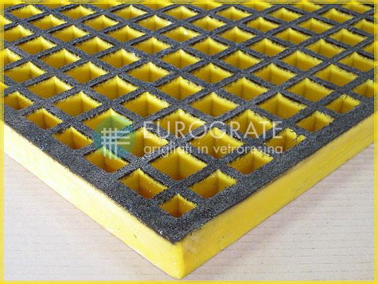 Maglia dei grigliati atex colore sicurezza giallo e nero