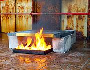 Grigliati testati per l'integrità al fuoco
