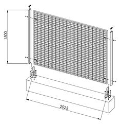 Elenco delle maglie delle recinzioni industriali