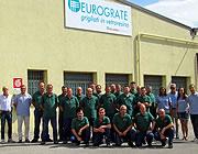 Sede di Eurograte: grigliati, profili, parapetti, scale e recinzioni in vetroresina